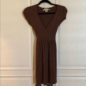 Medium brown short sleeve dress